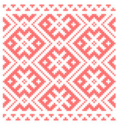traditional russian slavic cross-stitch ornament vector image