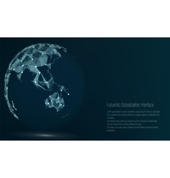 World Map Point Australia And Oceania vector image