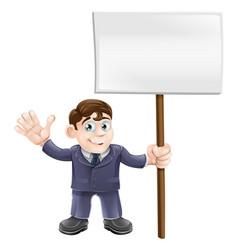 businessman holding sign vector image
