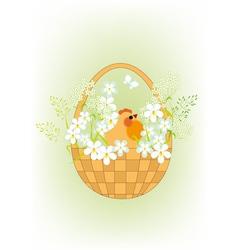Chicken in a basket vector image