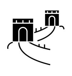 great wall - china icon vector image