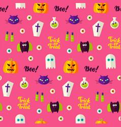 halloween boo seamless pattern vector image vector image