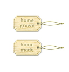 Home-made tags set 13 vector image