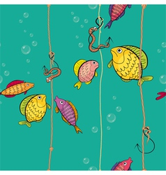 pattern of a colored fishes vector image vector image