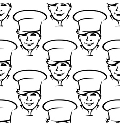 Repeat pattern of smiling young chefs vector image vector image