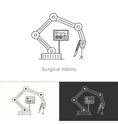 Thin line concept icon Surgical robots vector image vector image