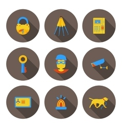 flat icons home security vector image