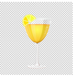glass of cocktail on vector image