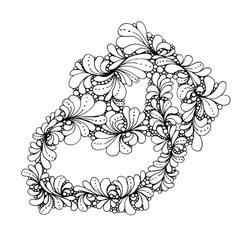 Hand drawn doodle outline magic line art element vector image