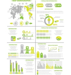 INFOGRAPHIC DEMOGRAPHICS POPULATION 3 YELLOW vector image