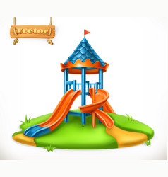 playground slide play area for children 3d icon vector image vector image