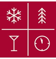 Set of christmas geometric icons New year symbols vector image
