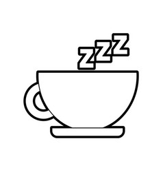 tea cup with zzzz vector image