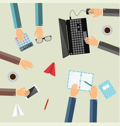 teamwork concept business partners working vector image
