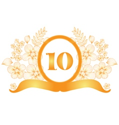 10th anniversary banner vector