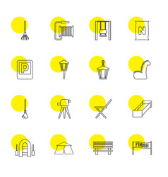 16 outdoor icons vector image