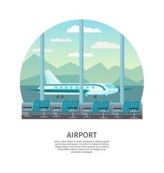 Airport Interior Orthogonal Design vector