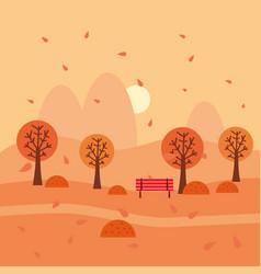 Autumn landscape october month season banner vector