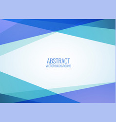 background made with geometric shapes in blue vector image