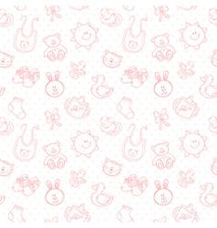 Batoys cute cartoon set seamless pattern vector