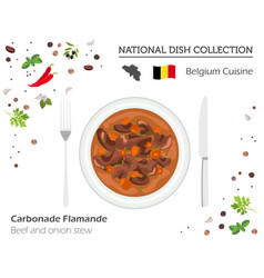 belgian cuisine european national dish collection vector image
