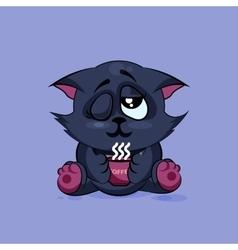 Black cat Good morning vector