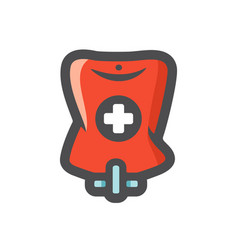 blood bag plasma supply cartoon vector image