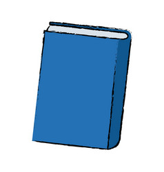 Blue book close learn literature knowledge vector