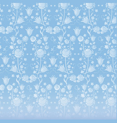 blue vintage wallpaper vector image