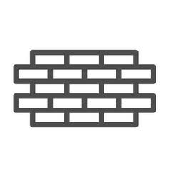 Brick wall line icon bricks vector