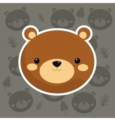 brown bear icon image vector image