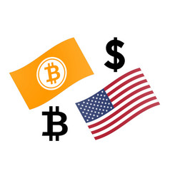 Btcusd forex currency pair bitcoin and united vector