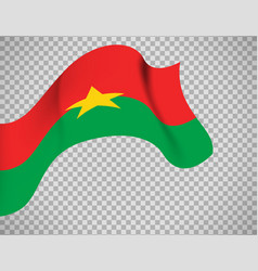 burkina faso flag on transparent background vector image