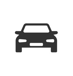 car icon in flat style automobile vehicle on vector image