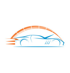 Car speed logo modern vector