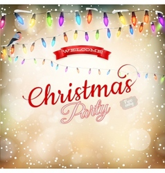 Christmas background withgarland EPS 10 vector image vector image