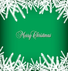 Christmas Banner Pine Green vector