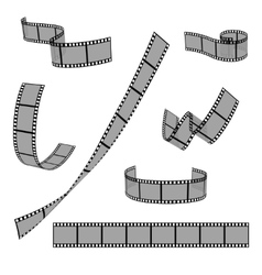Cinema film strip roll 35mm blank slide frame vector