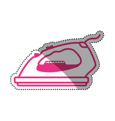 Clothes iron electric household appliances vector