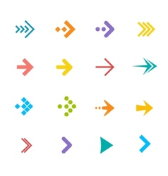 colorful arrows set Flat Design vector image