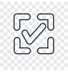 Confirm concept linear icon isolated on vector