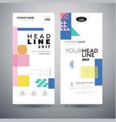 Corporate banner - set of modern template vector