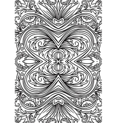Cover ornamental pattern for card or book vector