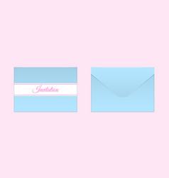 decorative blue envelope mock up vector image