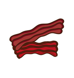 Deliciousn bacon fast food icon vector