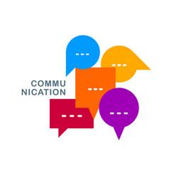 different speech bubbles composition flat design vector image
