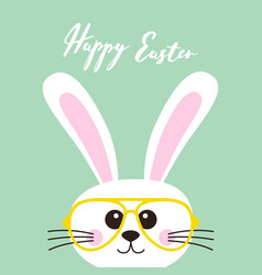 Easter card bunny in glasses vector