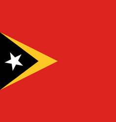 Flag of timor-leste official proportions vector