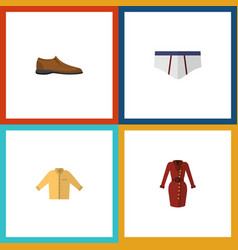 Flat icon garment set of banyan clothes male vector