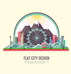 flat style modern design of public park vector image
